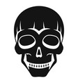 smiling skull head icon simple style vector image
