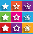 Star icons Rating stars symbols Feedback rating vector image