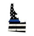 state idaho police support flag vector image vector image