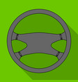 steering wheelcar single icon in flat style vector image