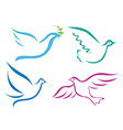 Stylised bird design vector image vector image