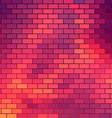 Sundown themed background with brick grid vector image vector image