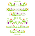 tulip spring borders vector image vector image