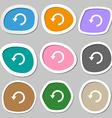 Upgrade arrow update icon symbols Multicolored vector image