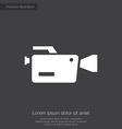 video camera premium icon vector image vector image