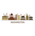 washington skyline vector image vector image