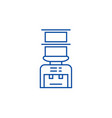water bottle systemdelivery of drinks line icon vector image vector image