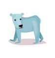 cute polar bear cub cartoon vector image