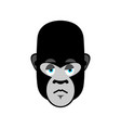 gorilla sad emoji monkey dull emotion isolated vector image
