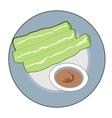 green rolls vector image