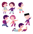 set of children boys and girls for different act vector image