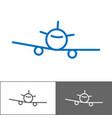 airplane logo template tourist company logotype vector image