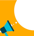 Megaphone with Speach Bubble Flat Design vector image