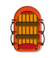 raft row boat icon image vector image