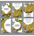 abstract brochures Recreation Tourism and vector image vector image