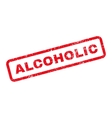 Alcoholic Text Rubber Stamp vector image vector image