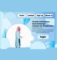arab man chat bubble profile using smartphone vector image vector image