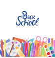 back to school supplies for teaching and children vector image