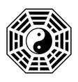 bagua - symbol taoism o daoism flat icon vector image vector image
