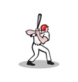 Baseball Player Batting Side Cartoon vector image vector image