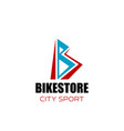 bike store badge vector image