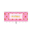 billboard decorated present boxes on pink vector image vector image