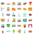 capital icons set cartoon style vector image vector image