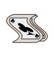 cartoon pocker magic trick show vector image vector image