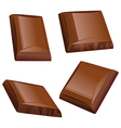 chocolate piece vector image