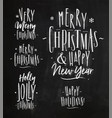 chrictmas lettering chalk vector image vector image