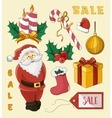 Christmas sale set vector image