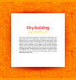 city building paper template vector image vector image