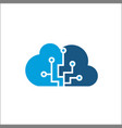 cloud computing and storage logo technology vector image