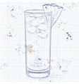 Cocktail Barracuda on a notebook page vector image vector image