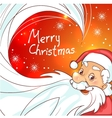 Cute cartoon Santa Claus on Christmas background vector image vector image