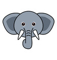 cute elephant cute animal faces vector image vector image
