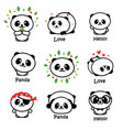 cute panda asian bear vector image vector image
