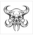 Demon Skull on white vector image vector image