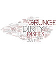 dirty word cloud concept vector image vector image
