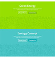Ecology Green Energy Line Art Web Banners Set vector image vector image