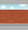 empty blank red brick wall on a city street vector image