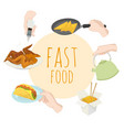 fast food special offer junk vector image