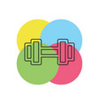 fitness barbell icon vector image