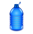 Five liter plastic water bottle isolated on white vector image vector image
