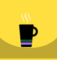 flat icon design collection cup of hot coffee vector image vector image