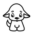 funny little dog puppy pet cartoon dog domestic vector image vector image