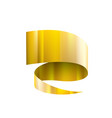 golden ribbon on white background vector image