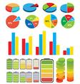 graphs charts vector image