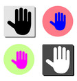 hand stop flat icon vector image