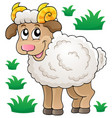 happy cartoon ram vector image